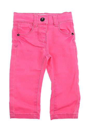 3 pommes pantalons fille de couleur rose