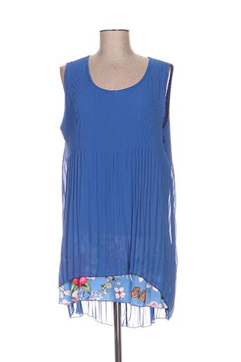 piment rouge chemises femme de couleur bleu