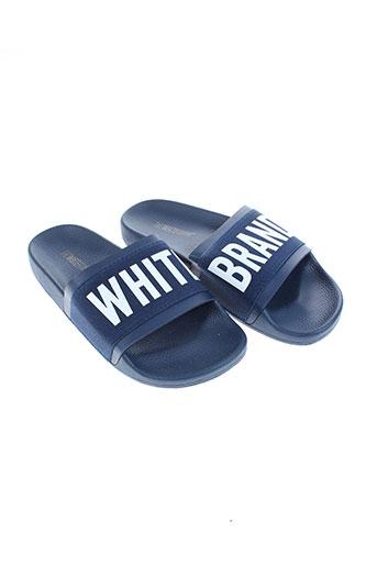 thewhitebrand chaussures femme de couleur bleu