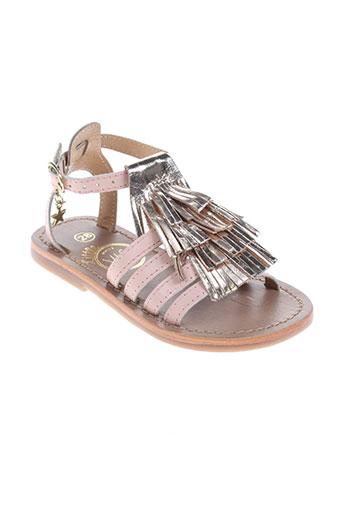 white sun chaussures fille de couleur rose