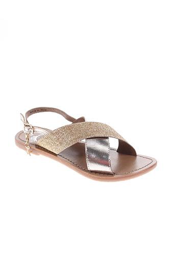 white sun chaussures fille de couleur marron