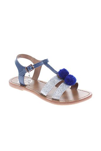 white sun chaussures fille de couleur bleu
