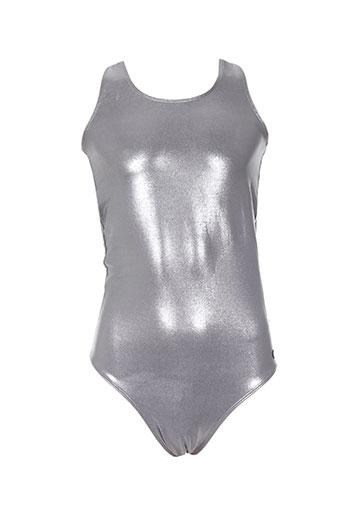 eleven paris maillots de bain fille de couleur gris