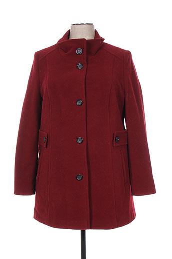 lebek manteaux femme de couleur rouge