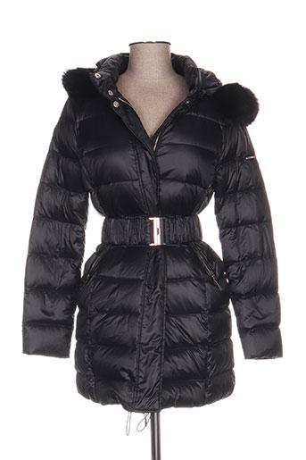 liu jo manteaux femme de couleur noir
