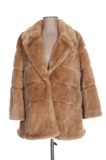 twinset manteaux femme de couleur marron