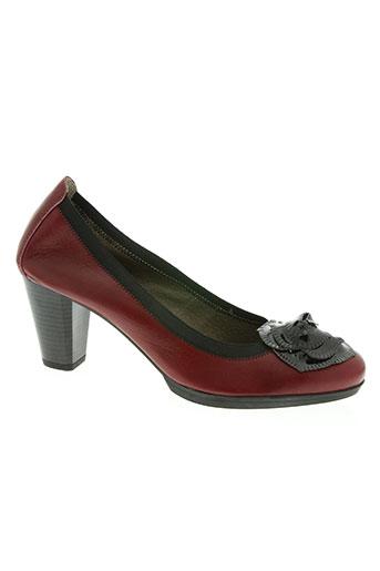 connivence chaussures femme de couleur rouge