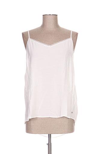 des petits hauts chemises femme de couleur blanc
