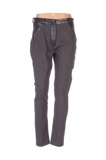 Pantalon casual marron BOHÉME pour femme
