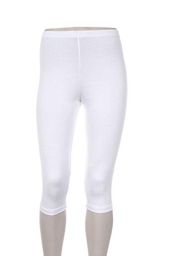 griffon pantalons femme de couleur blanc