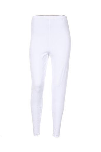 deomino pantalons femme de couleur blanc