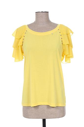 daniela cool chemises femme de couleur jaune