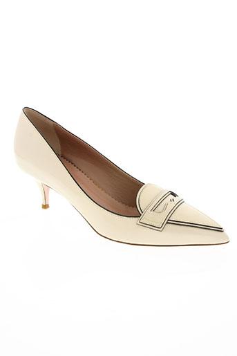 red (v) chaussures femme de couleur blanc