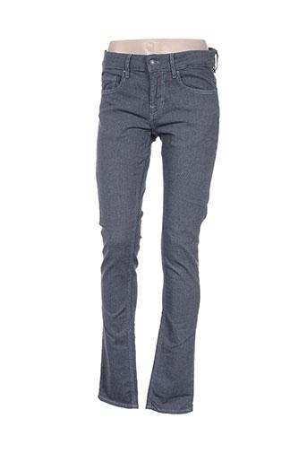 guess pantalons femme de couleur bleu