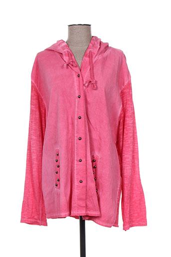 piment rouge vestes femme de couleur rose
