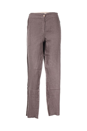 zeli pantalons femme de couleur marron