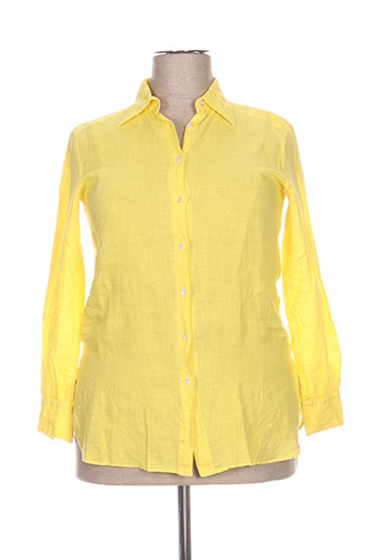 cristiana c chemises femme de couleur jaune