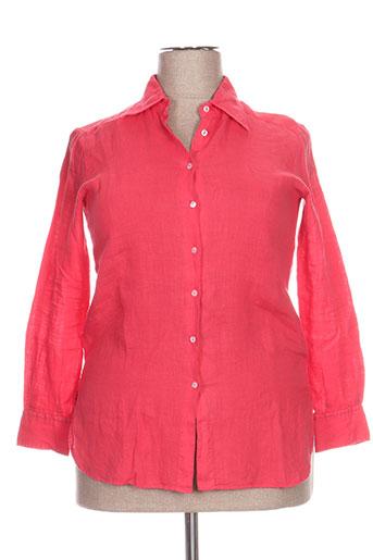 cristiana c chemises femme de couleur rose