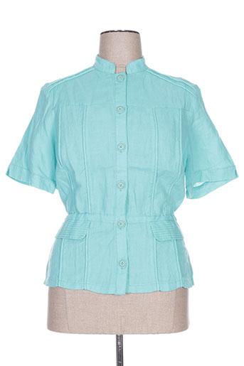steilmann chemises femme de couleur bleu