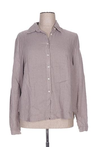 cristiana c chemises femme de couleur gris