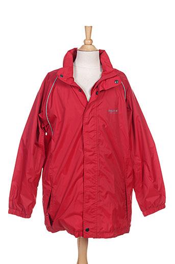 regatta manteaux garçon de couleur rouge
