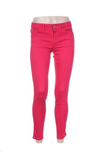 guess pantalons femme de couleur rose