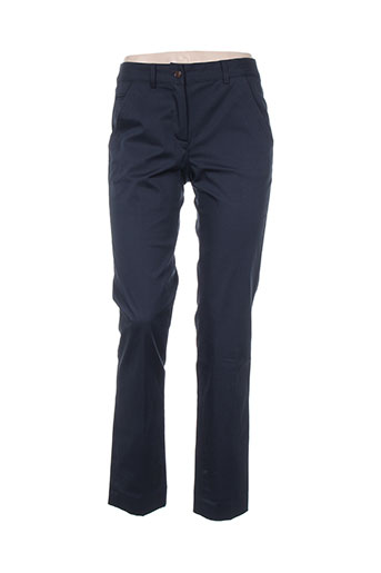 gerard darel pantalons femme de couleur bleu