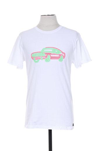 gsus t-shirts homme de couleur blanc
