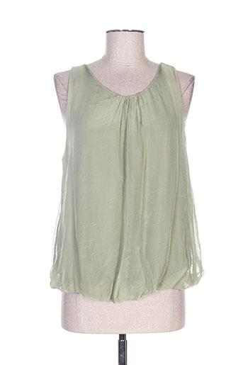 b.yu chemises femme de couleur vert