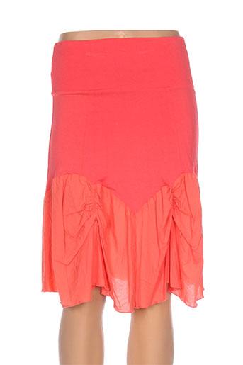 lm la maille jupes femme de couleur orange