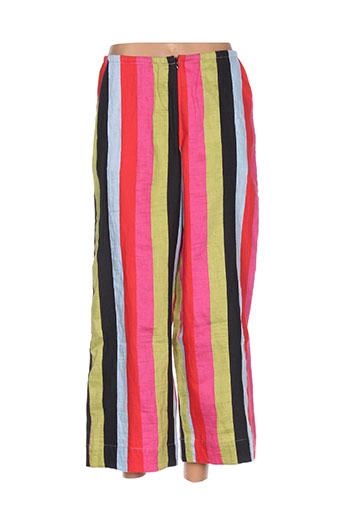 alembika pantalons femme de couleur rouge