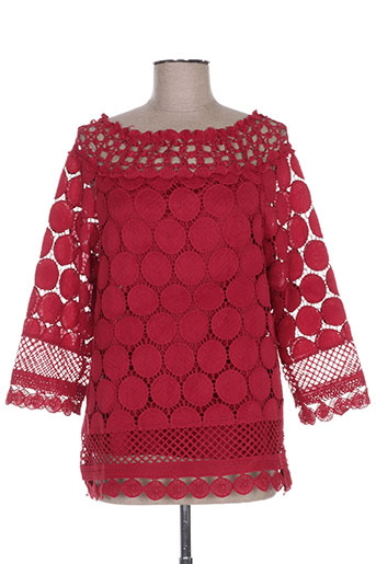 chic etjeune chemises femme de couleur rouge