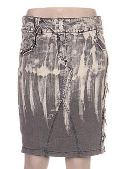 Jupe courte gris DANIELA DALLAVALLE pour femme