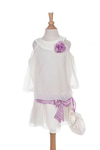 Robe mi-longue beige PASSANELA pour fille