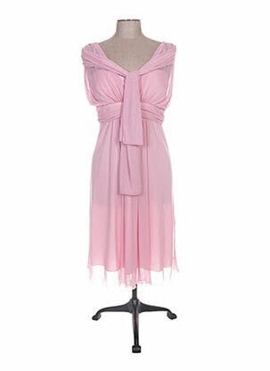 Robe longue rose FASHION NEW YORK pour femme