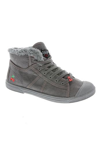 le temps des cerises chaussures fille de couleur gris