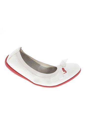 les p'tites bombes chaussures fille de couleur blanc