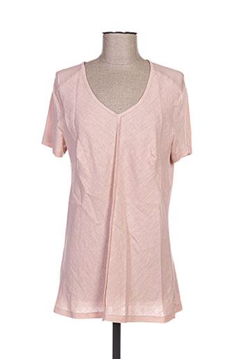 T-shirt manches courtes rose POUSSIERE D'ETOLE pour femme