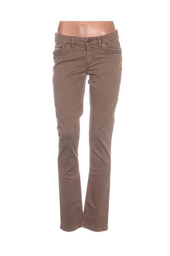 ikks jeans femme de couleur marron