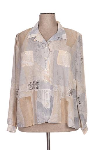 francoise de france chemises femme de couleur gris