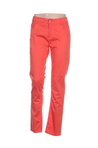 onado pantalons femme de couleur orange