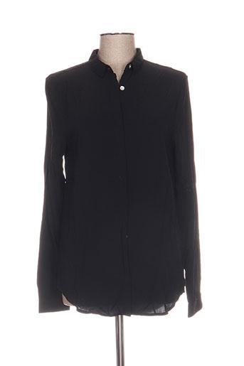 wemoto chemises femme de couleur noir
