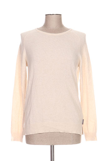 Pull col rond beige BARBOUR pour femme