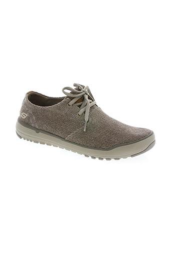 skechers chaussures homme de couleur marron