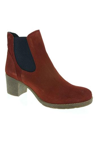 pinto di blu chaussures femme de couleur rouge