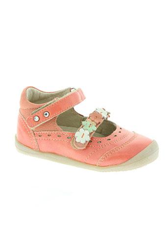 noël chaussures fille de couleur orange