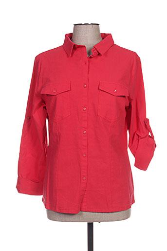 s.quise chemises femme de couleur rouge