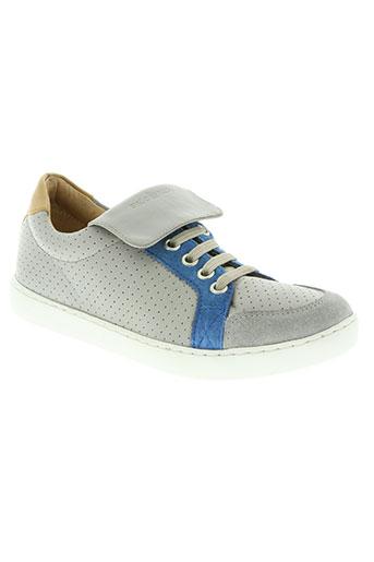 shoo pom chaussures garçon de couleur gris