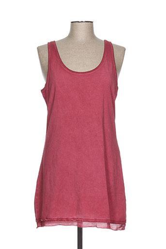 simclan t-shirts femme de couleur rouge