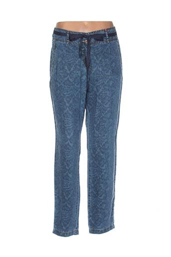 jocavi pantalons femme de couleur bleu